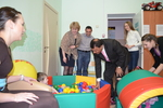 Opening of a game room in the children's oncology department of the Regional clinical hospital. July 2013.