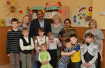 "Visit of CEO of Imperial Energy, Durga Prasad to Tomsk center of social aid to family and children ""Ogonyok"". May 2014."