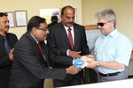 Visit of Director (Operations) of OVL, Sh. Bhattacharya and CEO of Imperial Energy, D. Prasad to Tomsk regional branch of Russian association of blind people. August 2014
